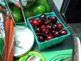 Look at the color of these cherries!