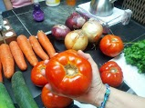 Look at the size of the tomato!