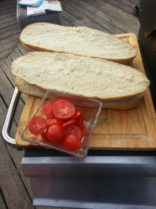 Hey look it's the bread making it's appearance along with the tomatoes...