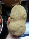 Look at the size of this potato!!!!