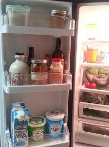 Left fridge door....