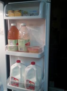 Right fridge door....