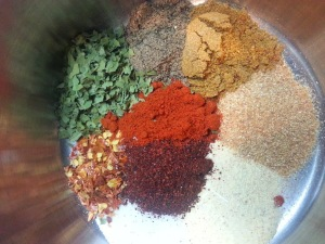 Rainbow of spices....