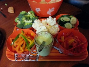 Veggie tray with dip...
