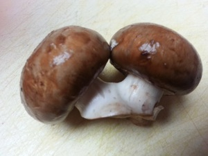 Siamese twin mushrooms