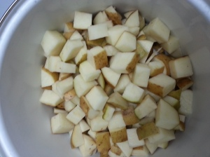 Diced potatoes...
