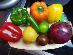 The fresh stuff for salsa!