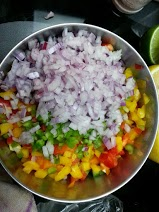 Onions adding their own color to the rainbow...