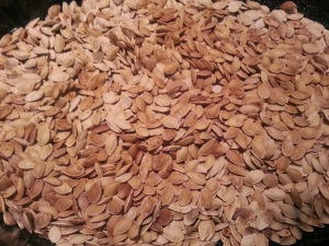 Roasted pumpkin seeds...