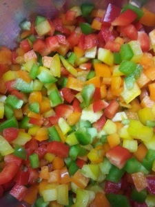 Rainbow of peppers...