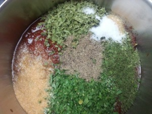 Tomato starter being turned into pizza sauce...