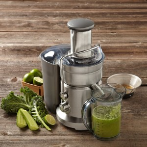 Stock photo of the Breville Juice Fountain Duo.