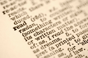 Dictionary entry for read.