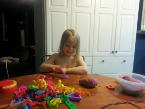 These are the kinds of faces I get when they play with the homemade stuff....