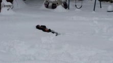 She just sank into the snow.