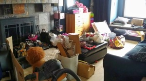 This is the cleaned up version of my family room....