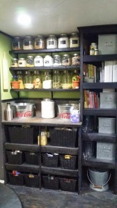 Pantry area of the kitchen....
