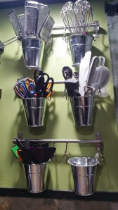 This is my most used utensil area. Each bucket organized my stuff perfectly for me....
