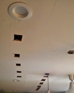 Ceiling during the revamp.