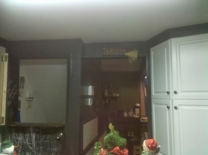 View to the entryway and basement areas of our home....