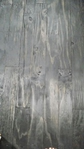 Plywood flooring....YES I said plywood flooring. Stained and sealed....