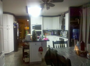 Here is the view from the family room into the kitchen.