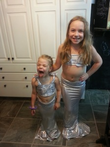 My two mermaids....