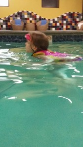 She LOVED the feeling of swimming on her own.
