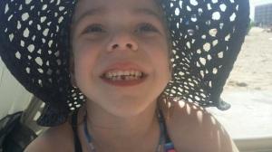 My precious Reine in her sun hat!