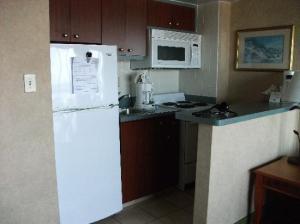 Our tiny kitchen.